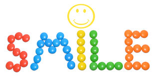 Smile text with smiley Stock Image