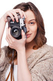 Smile to a camera! Royalty Free Stock Photography