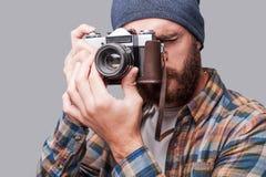 Smile to the camera! Stock Photos
