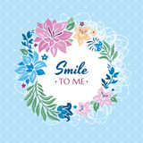 Smile to me gift card Stock Images