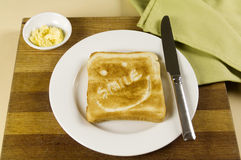Smile Toast Royalty Free Stock Image