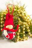 Smile toy snowman Stock Image
