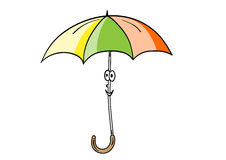 Smile umbrella Stock Image