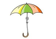 Smile umbrella Stock Image