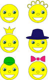 Smile, vector illustration, yellow Royalty Free Stock Photos