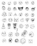 Smile vector set Royalty Free Stock Photo