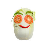Smile vegetable face, Isolated. On white background royalty free stock photography