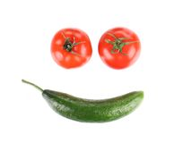 Smile of vegetables. Royalty Free Stock Image