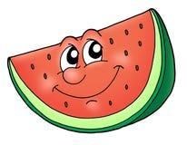 Smile watermelon. Slice of watermelon - color illustration Stock Image