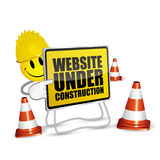 Smile website under construction Royalty Free Stock Photography