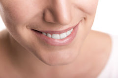 Smile with white healthy teeth. Royalty Free Stock Photography