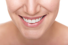 Smile with white healthy teeth. Royalty Free Stock Image