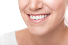 Smile with white healthy teeth. Royalty Free Stock Photos