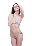 Smile woman in bathing suit Royalty Free Stock Image