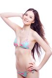 Smile woman in bathing suit Stock Image