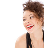 Smile woman portrait. Isolated. This image has attached release Stock Image
