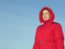 Smile woman winter Stock Photography