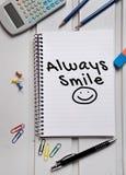 Always Smile word Stock Photography