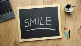 Smile written Stock Photography