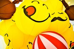 Smile yellow balloon royalty free stock images