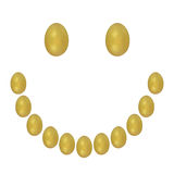 Smile yellow easter eggs Stock Photography
