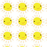 Smile yellow sunrises cute  background Royalty Free Stock Photography