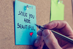 Smile you are beautiful Royalty Free Stock Images