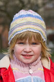 Smile young girl. A young child in nature Royalty Free Stock Photography