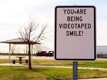 Smile you are on camera. Royalty Free Stock Photography