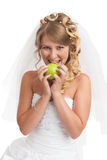 Smiled beauty bride Stock Photography