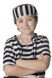 Smiled child with prisoner costume Stock Photos