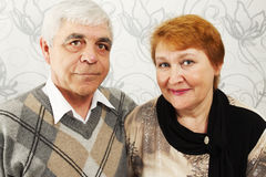 Smiled elderly pair Royalty Free Stock Images
