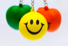 Smiled happily Stock Image