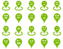 Smiled location icons Stock Photos