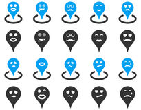 Smiled location icons Stock Photo
