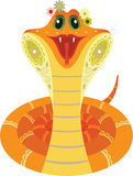 Smiled orange snake Stock Photography
