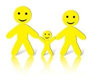 SmileMan: Wir sind glückliche Familie! Stockbilder