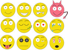 Smiles. Icons for forum, chat and other stock illustration