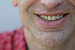 He smiles. Male happy smile Royalty Free Stock Photography