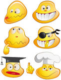 Smiles. Six funny faces expressing different feelings Royalty Free Stock Image