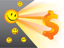 Smiles. Illustration of smiles and dollar Royalty Free Stock Photo