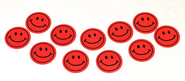 Smiles. Smile Stickers Isolated Stock Photo