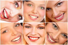 Smiles. Happy woman smiles Stock Photos