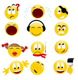 Smiles. Collection of smiles. Vector illustration Stock Images
