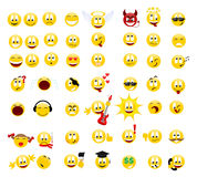 Smiles. Collection of smiles. Vector illustration Royalty Free Stock Image