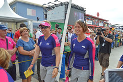 Smiles As Team SCA Is About To Tackle The Worlds Toughest Yacht Race Royalty Free Stock Photo