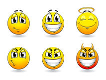 Smiles-balls Royalty Free Stock Photos