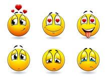 Smiles-balls. Set of pretty smiles-balls. Vector illustration Stock Photography
