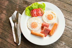 Smiles Breakfast  breakfast Royalty Free Stock Image