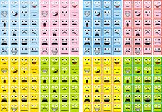 Smiles collection Stock Image